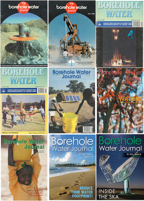 The Borehole Water Journal through the years.