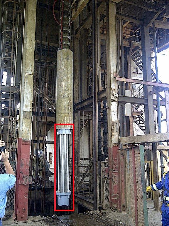 1300kW 6,6kV mine dewatering turbine