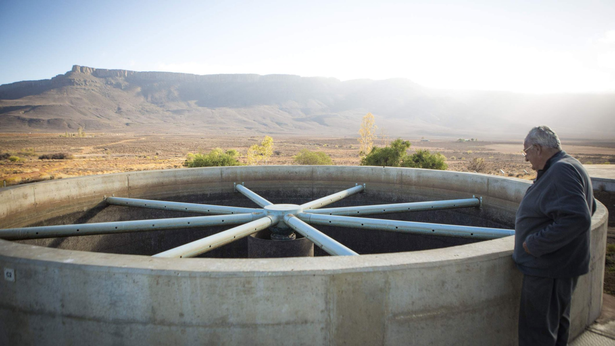 Small reservoirs serve as a backup for the boreholes when there is no electricity. (Photo Credit: Johnny Miller)