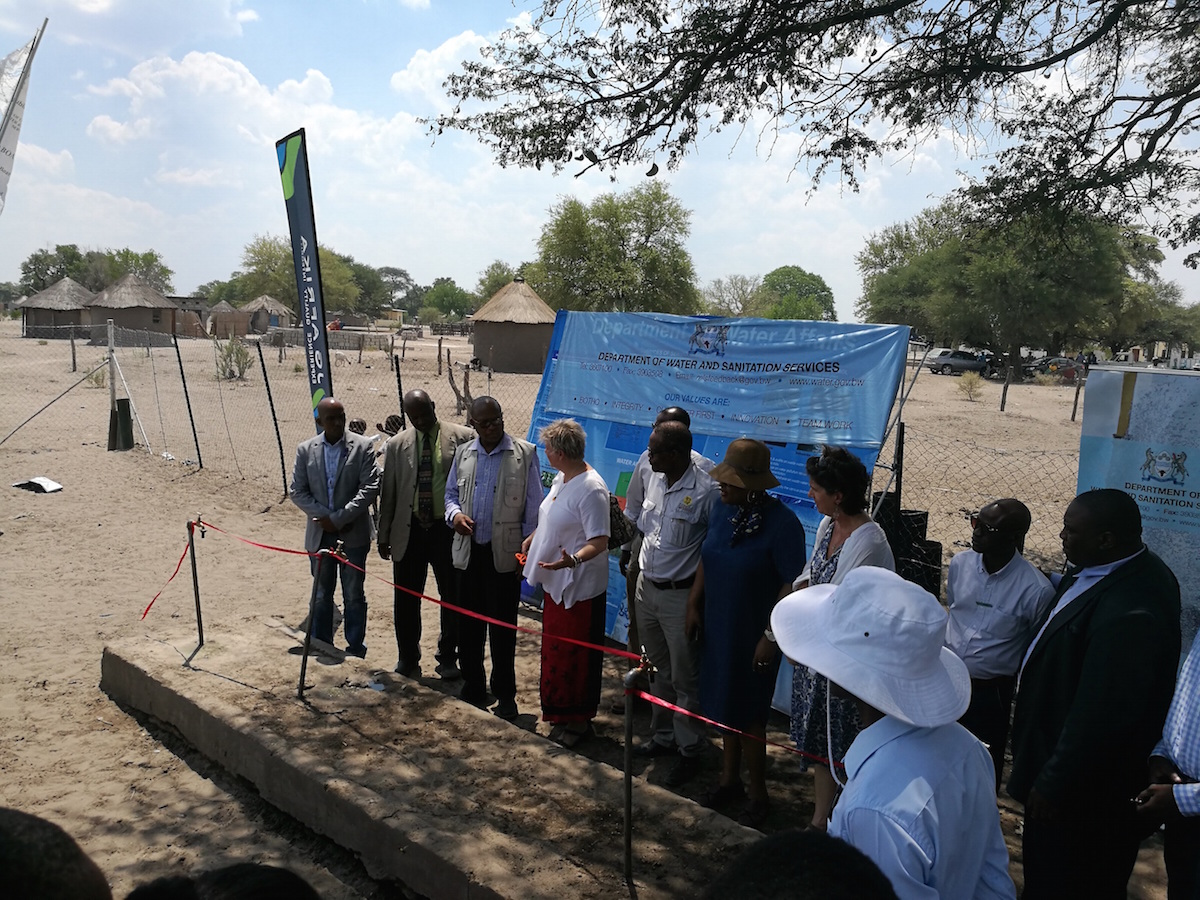 Robyn Tompkins, a Water, Sanitation and Health (WASH) development expert, led the JG Afrika team that was appointed by Initiatives to assist in the design and development of this first-of-a-kind water-supply project.