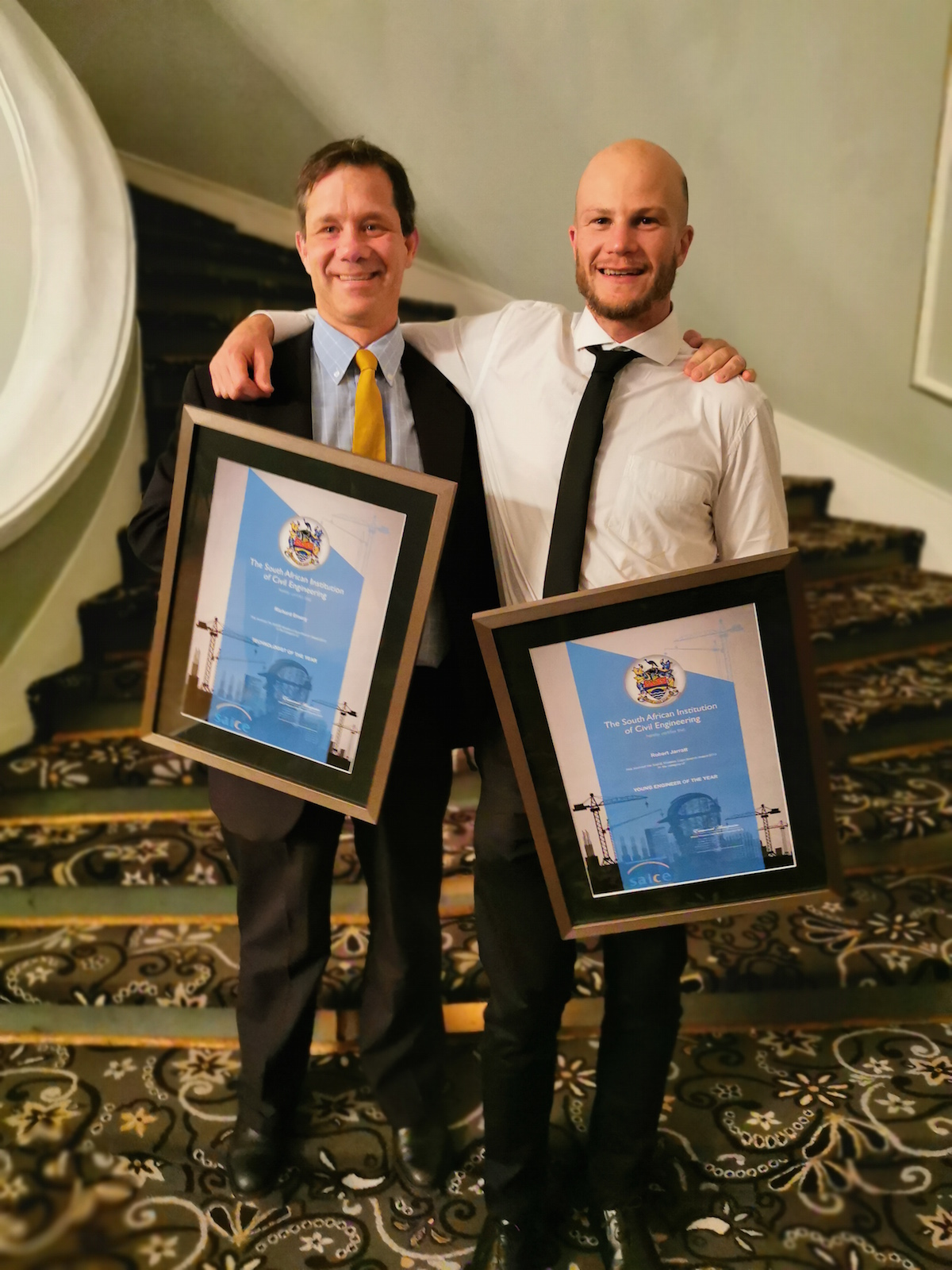"Richard Emery, a JG Afrika Executive Associate, was nominated ""Technologist of the Year"" and Associate, Bobby Jarratt, ""Young Engineer of the Year""."