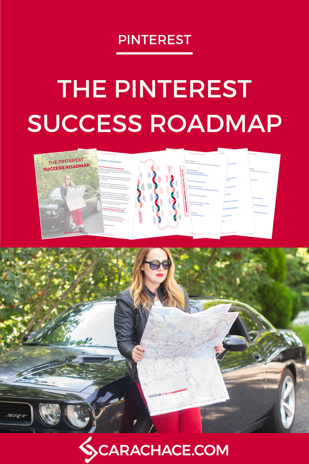 Need a step-by-step plan for your Pinterest marketing strategy? This roadmap is designed to take entrepreneurs and small business owners through everything they need to create a working marketing funnel, get more email subscribers, and turn their website traffic into customers. Learn more inside at pinterestpowerup.com #pinterestmarketing #pinteresttips #carachace