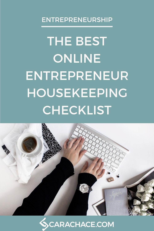 The Best Online Entrepreneur Housekeeping Checklist Pin 1.png