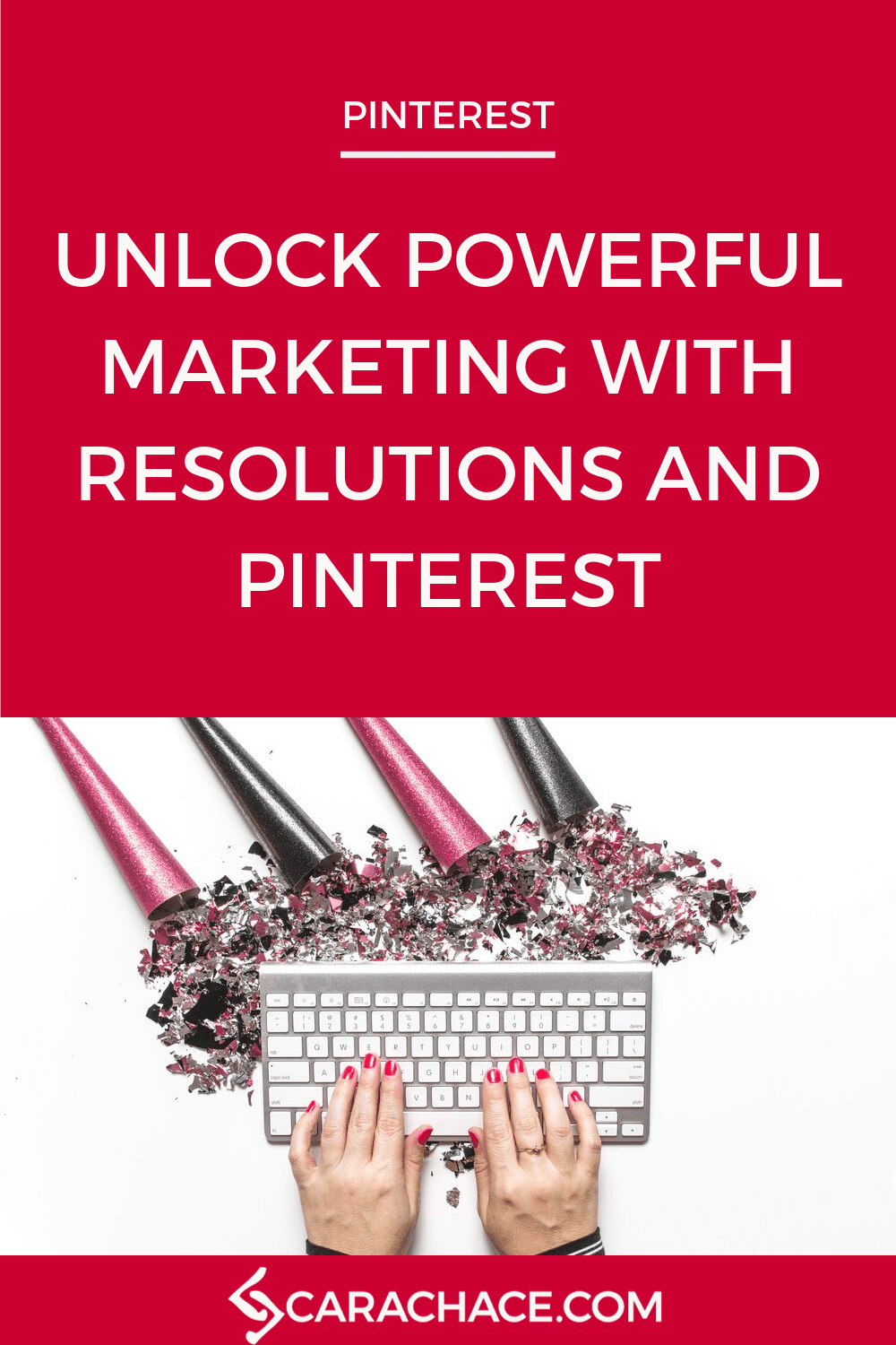 New Year's Resolutions can be a powerful marketing strategy for your small business on Pinterest. Learn how to think like your target audience on Pinterest and give them solutions to the problems they're trying to solve. Learn more inside at pinterestpowerup.com #pinterestmarketing #pinteresttips #carachace