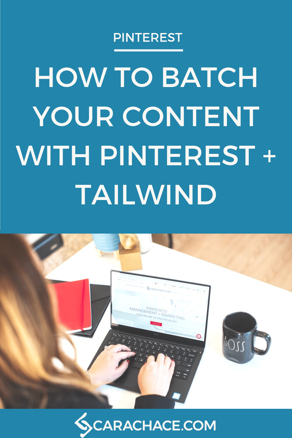 Learn how to save time and create tons of pins by using Pinterest to re-purpose and Tailwind to batch your business content. #carachace #tailwind #pinterestmarketing