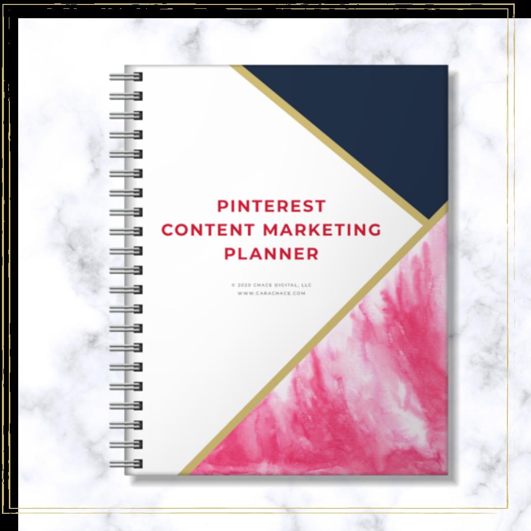 Pinterest Content Marketing Planner 1