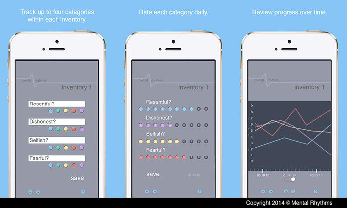 The Mental Rhythms App at work.