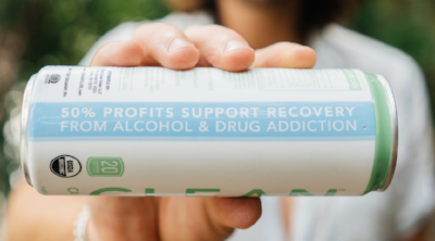 Click this can to learn how 50% of Clean Cause's profits help support recovery from alcohol & drug addiction.