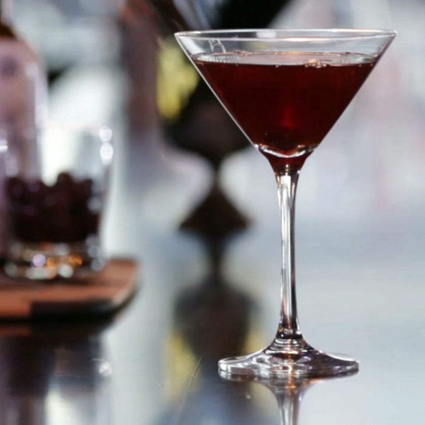 Manhattan    2 oz Rye Whiskey   1 oz Sweet vermouth  3-5 drops Angostura Aromatic Bitters   Add all the ingredients to a mixing glass and fill with ice. Stir well and strain into a chilled cocktail glass. Garnish with a cherry.