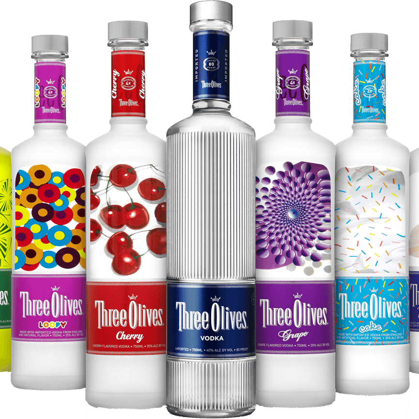 Three Olives Vodka 750ml   regular and All flavors on sale/ was 19.49   Now $13.99