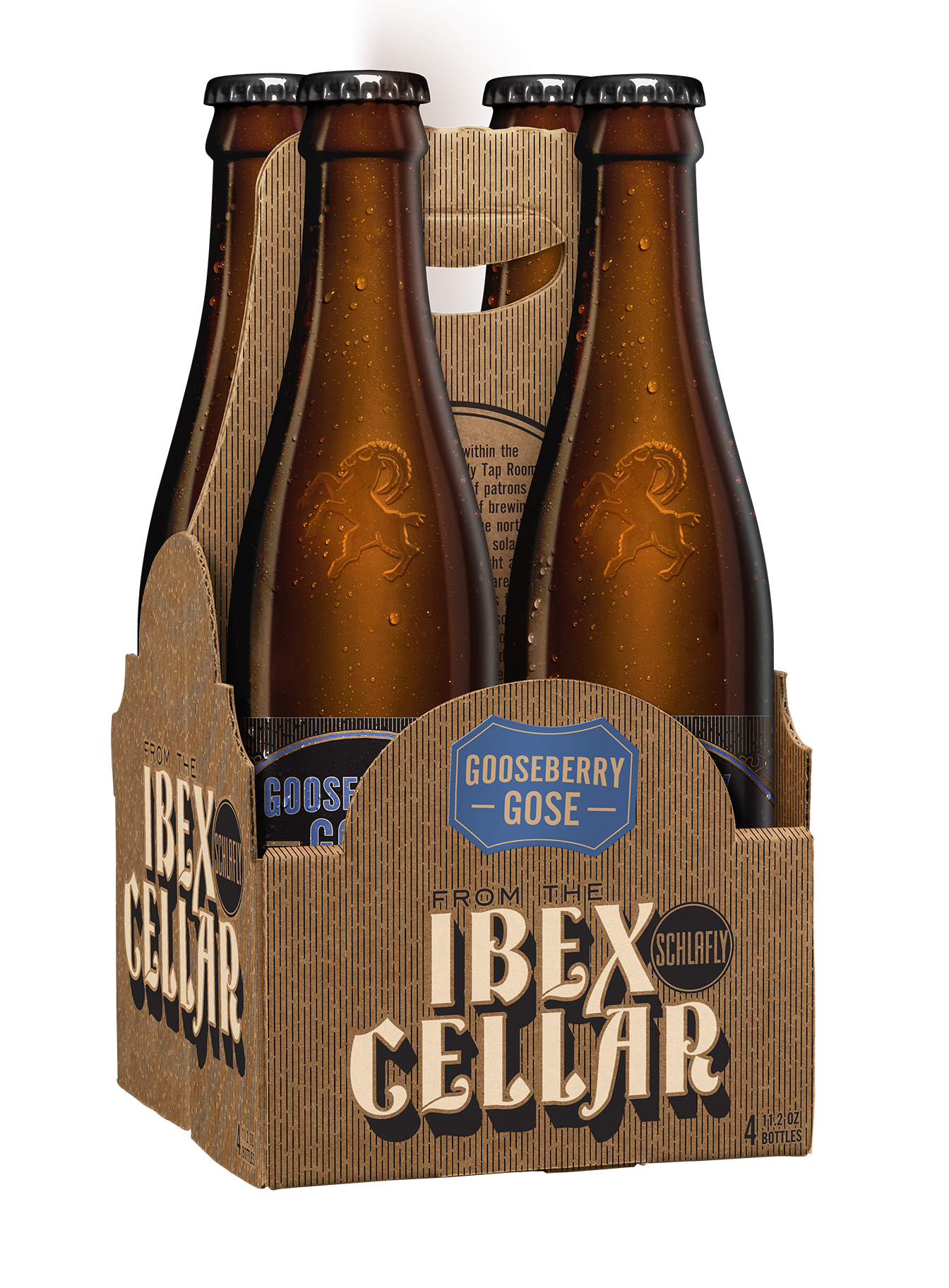 Ibex Cellar: Gooseberry Gose - This sour wheat ale is made with sea salt and coriander; we've added gooseberries for a modern twist on this historical style. It gets its tartness from lactic acid, and the bright, herbal character from coriander. Gooseberries provide a hint of fruitiness, which pairs nicely with the sour, salty profile of this beer. This quirky, historical style is low in alcohol, tart and very refreshing.