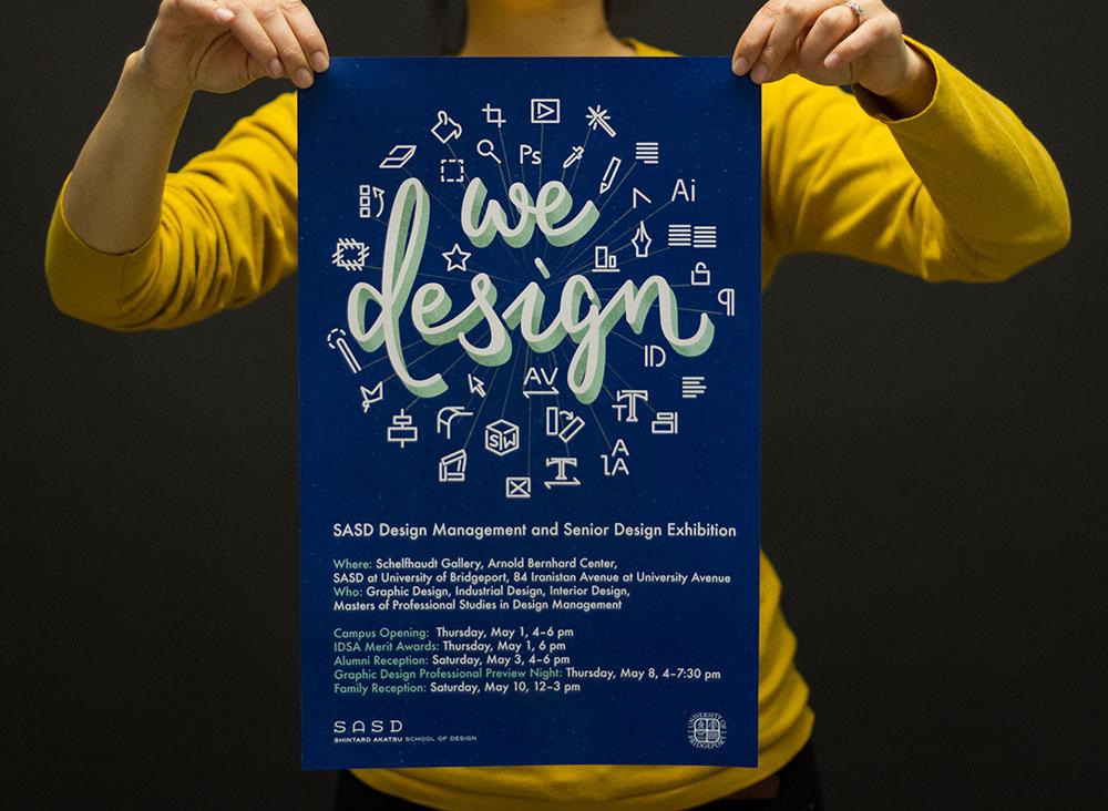 we design poster blue