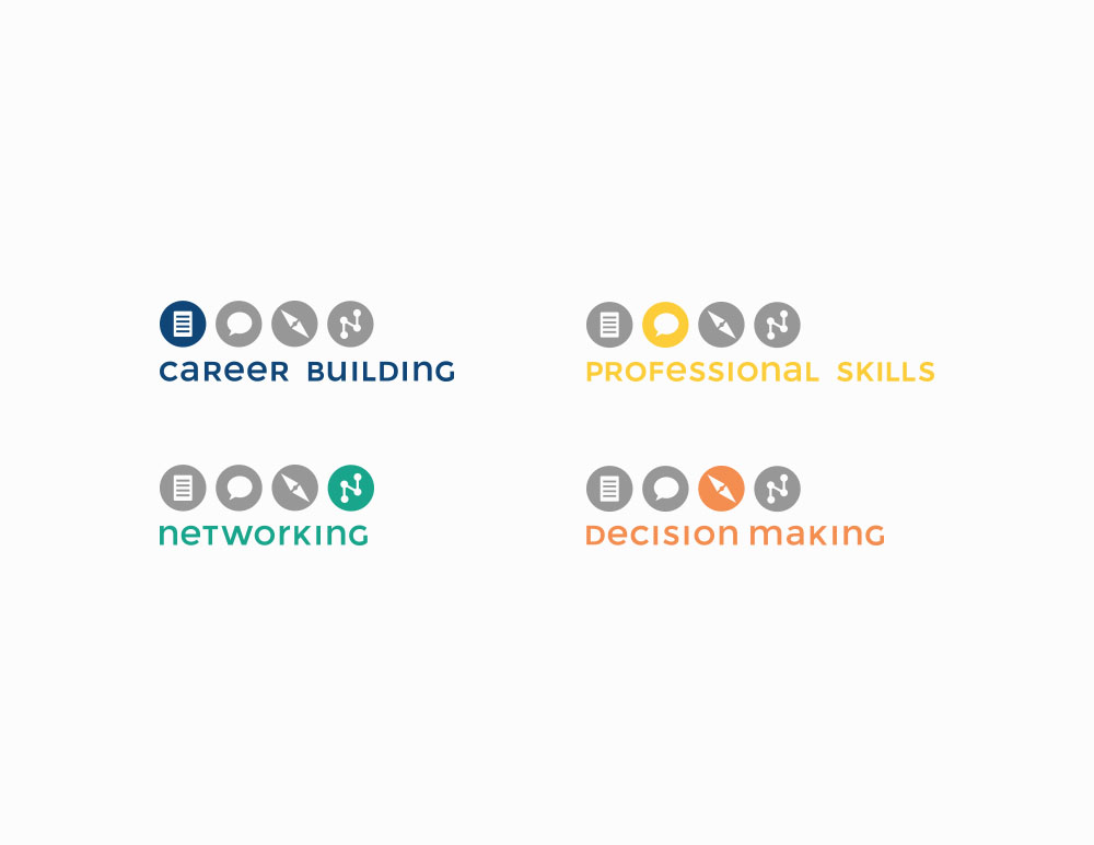 University of Bridgeport Career Services Logo Redsign