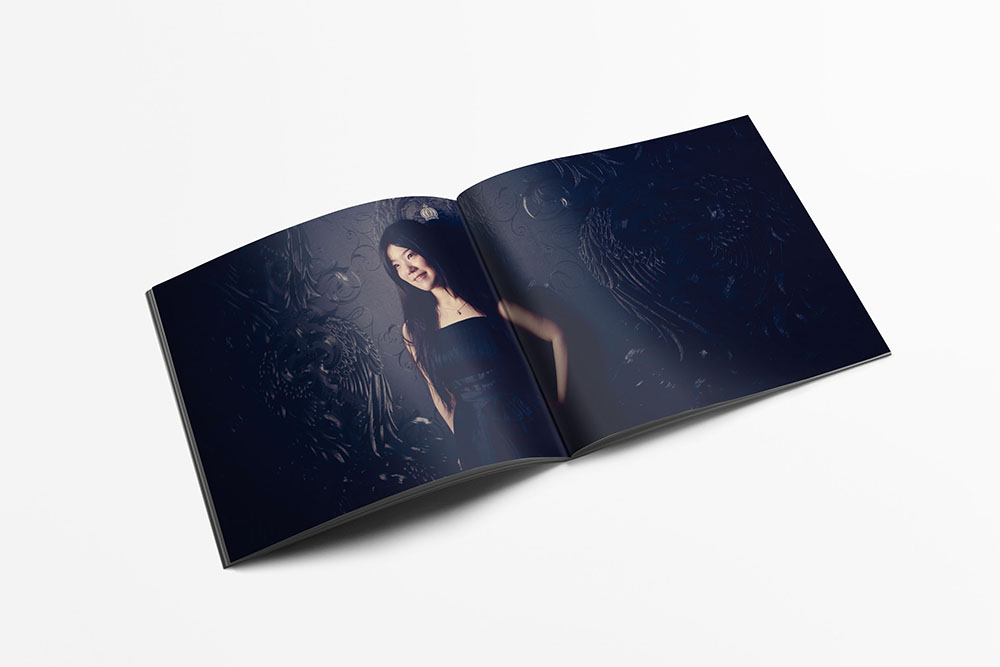 Interior spread of the CD booklet
