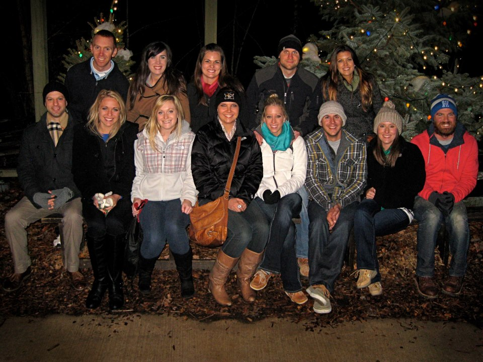 Silver Dollar City at Christmas time w/ friends