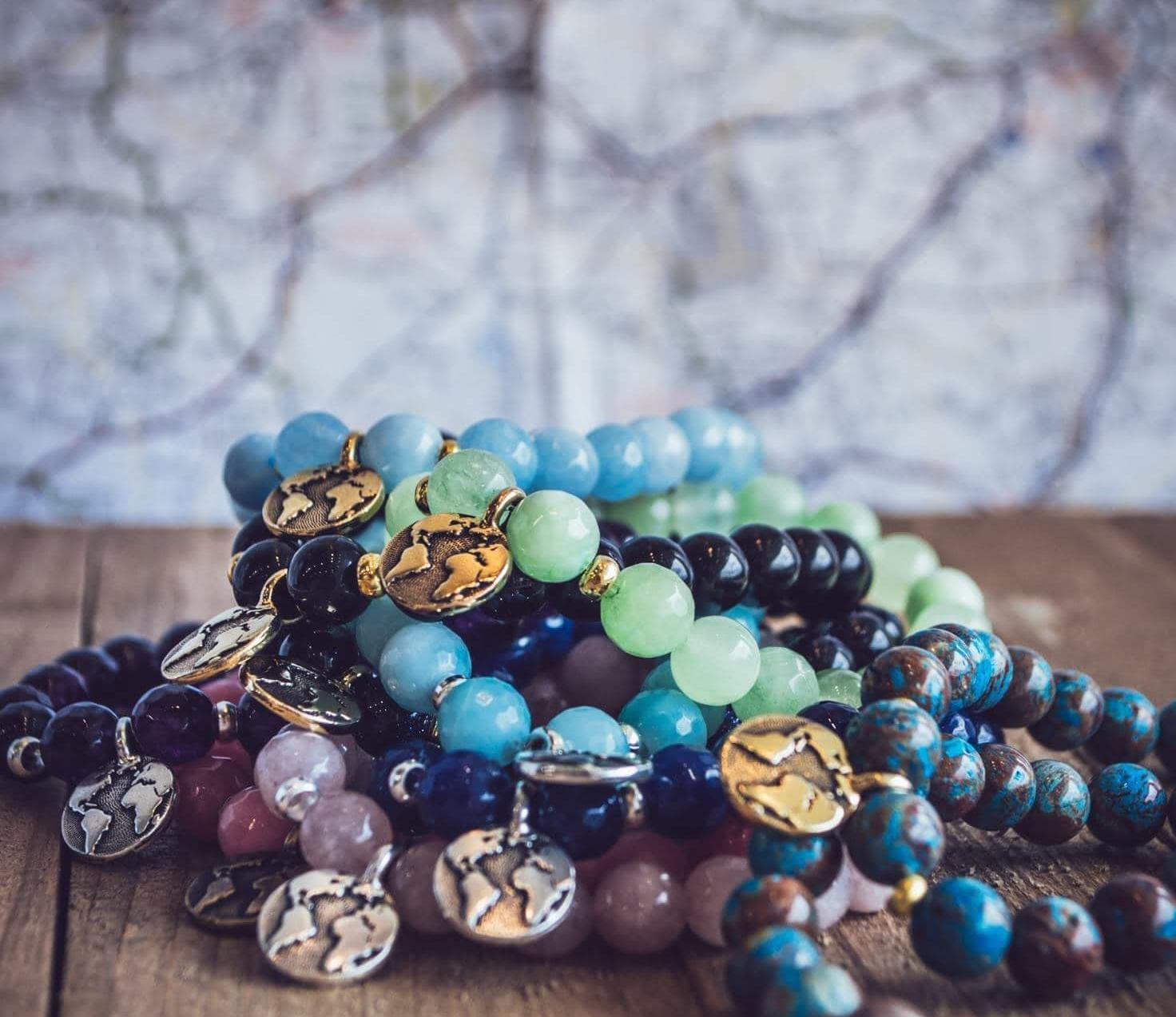 Around the World bracelet stack