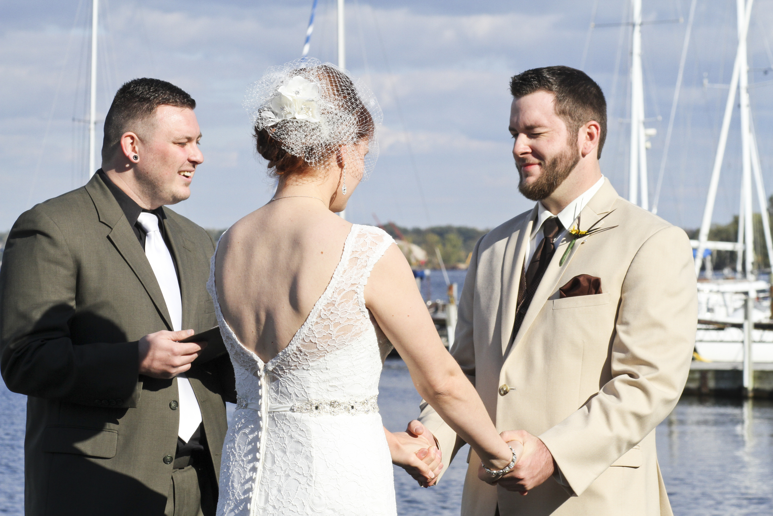 Right on the water! Beautiful place for a ceremony. © 2014 Shealyn McGee-Sarns