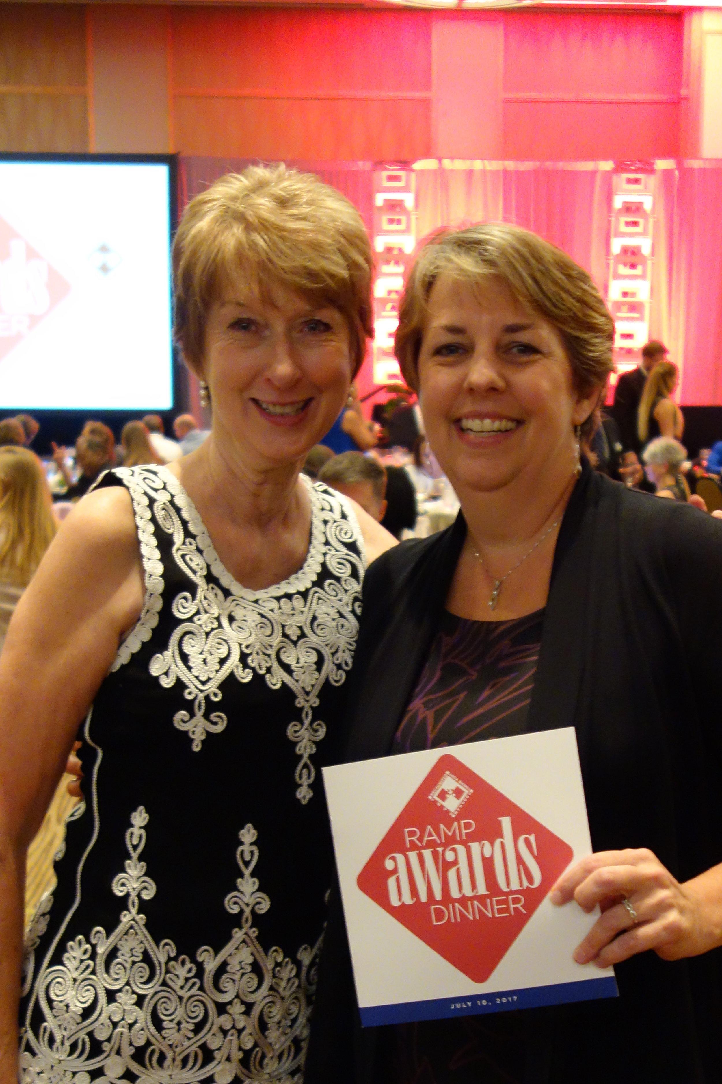 Derhonda Ross and Julie Hartline at RAMP Awards Dinner, ASCA 2017 National Conference
