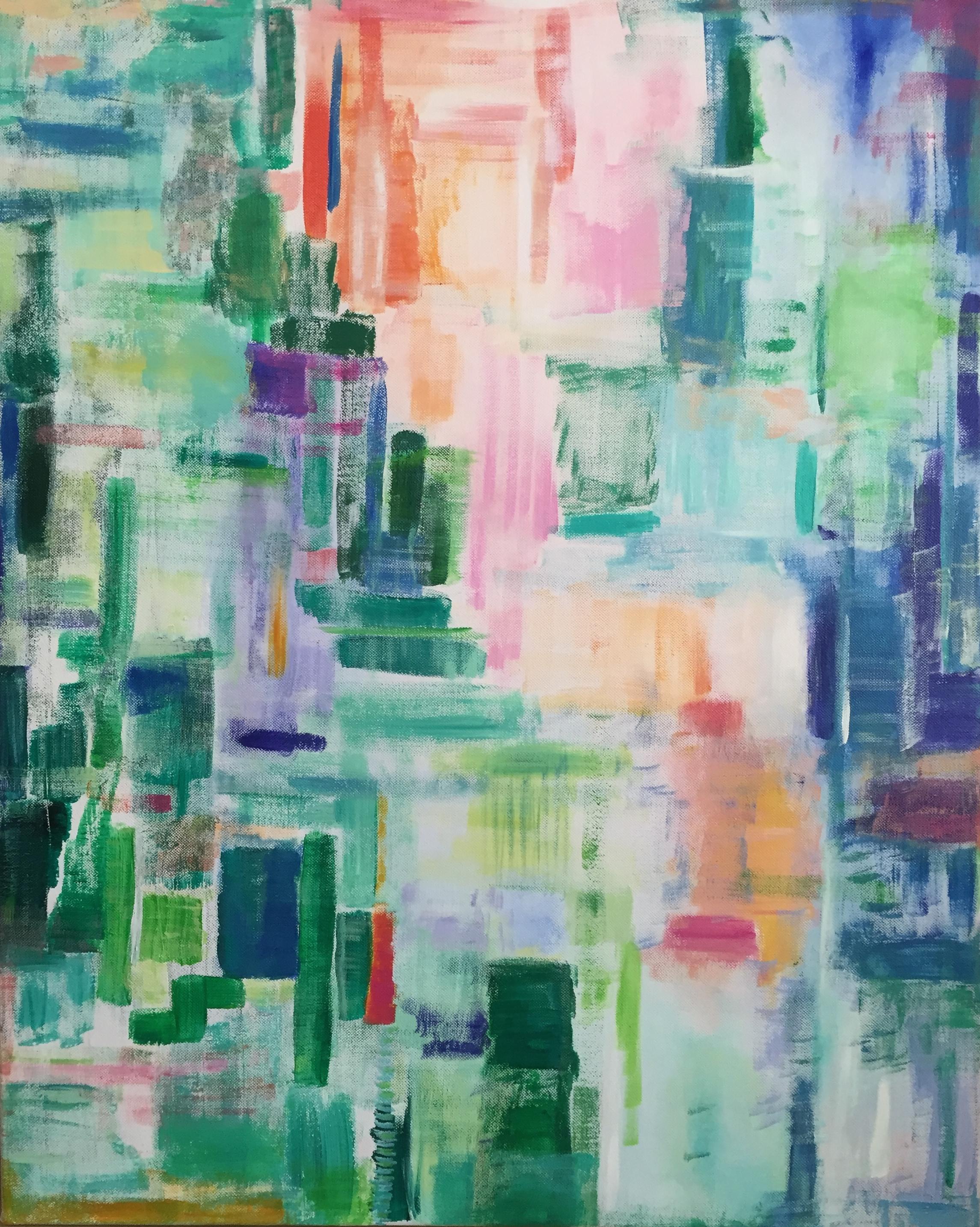 green shade city, 24 x 30, acrylic on canvas