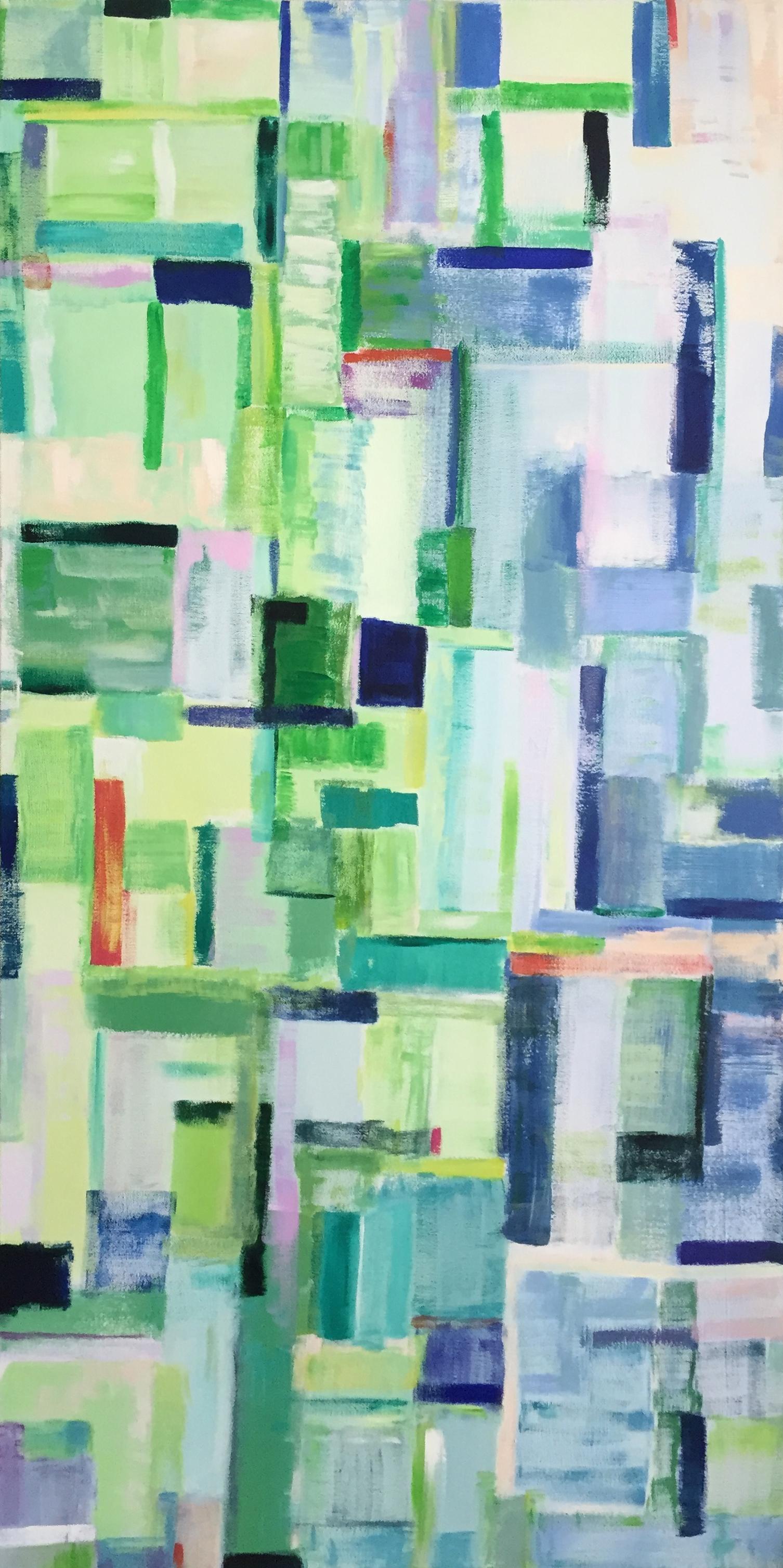 pastel city, 24 x 48, acrylic on canvas