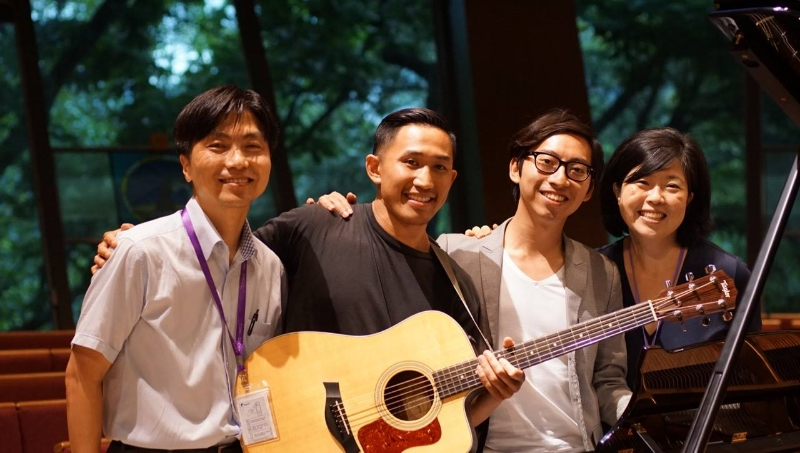 Worship team: Byung Goo Hwang (Korea), Jaron Cheung (US), Paul Mak (Hong Kong), Sue Park-Hur (US) Yoko Sato (Japan-not pictured) Photo taken by Jongho Kim