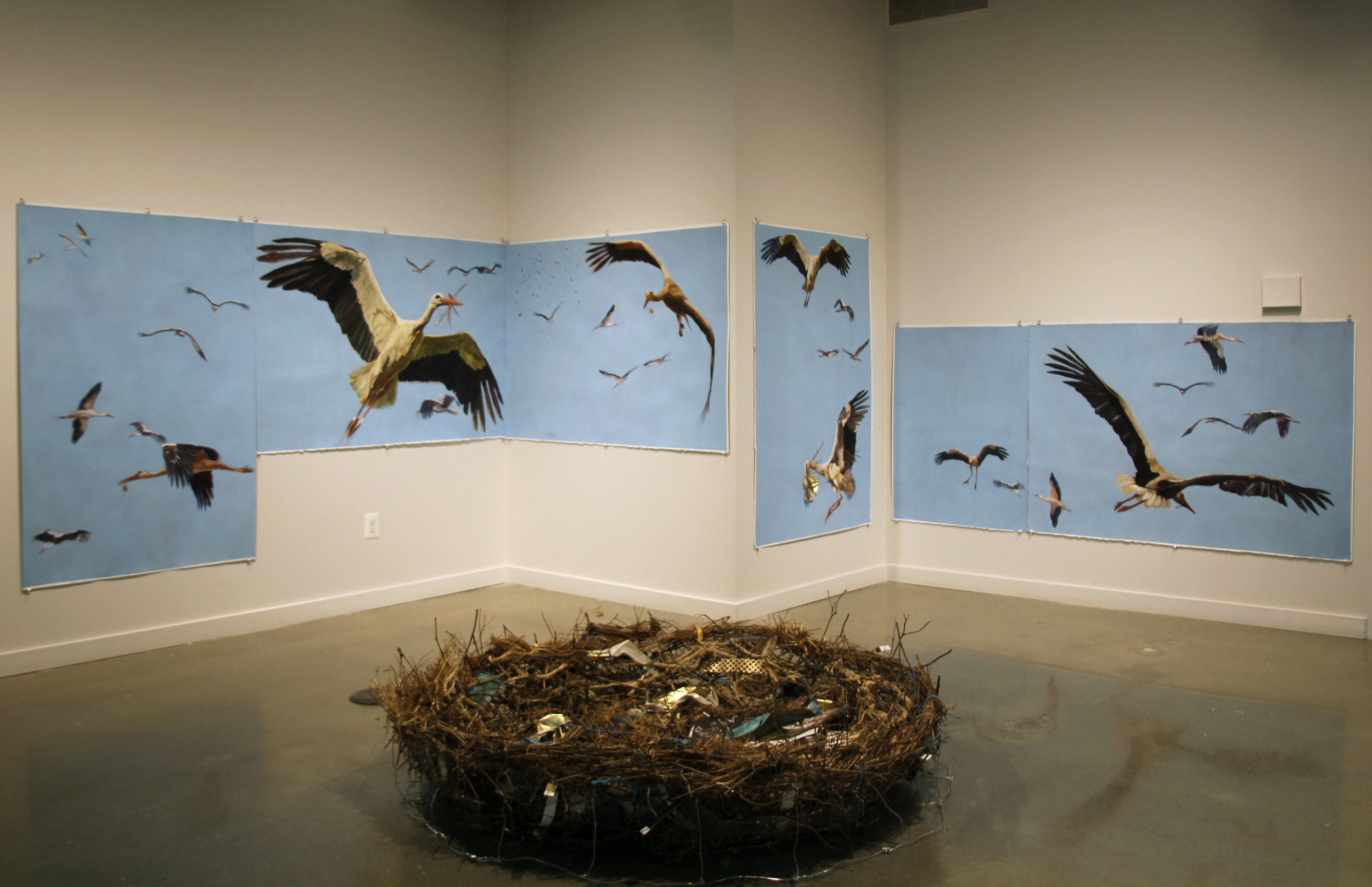 The Storks Come Home to Roost (installation)