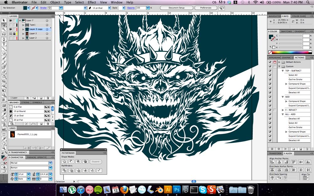 Illustrator process screen capture.