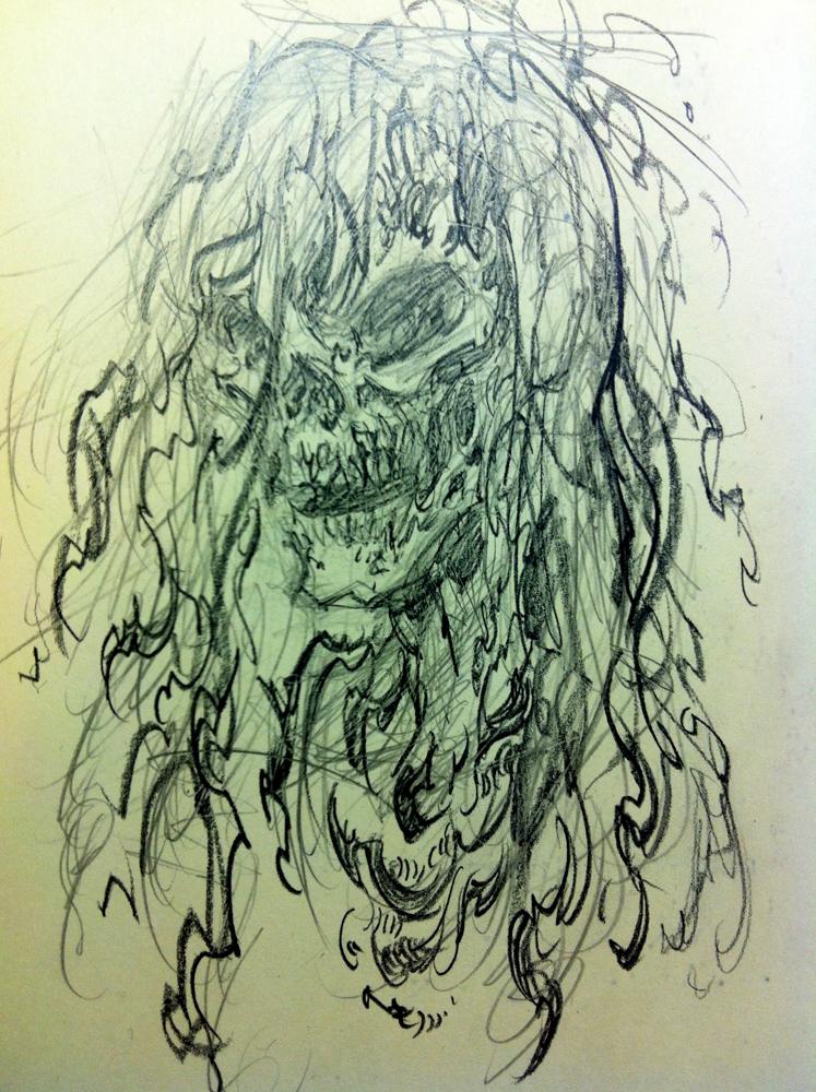 A moleskin doodle. To loosen up.