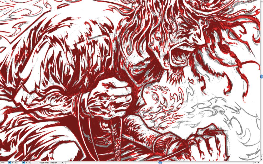 Illustrator progress.