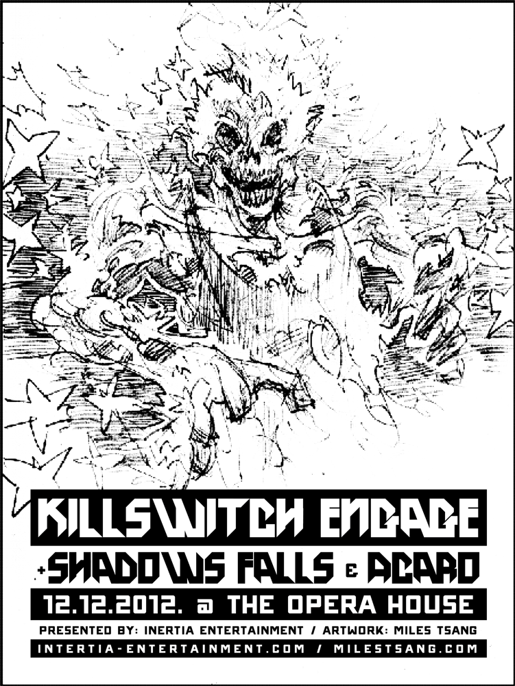Killswitch moleskin drawing with type added.