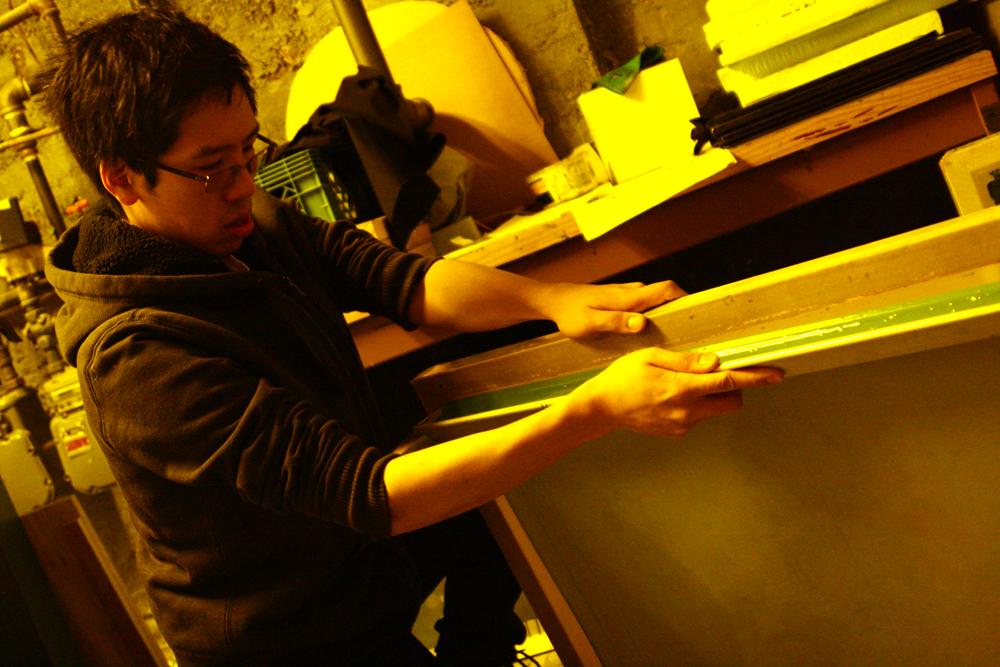 Coating my trusty 255 silkscreen.