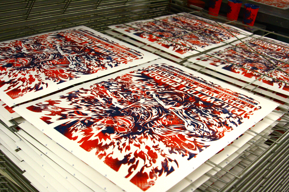 Killswitch Engage prints drying.