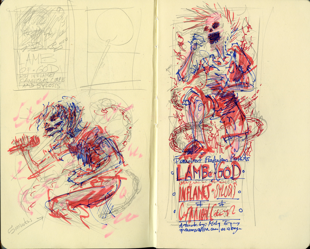 A couple of other moleskin doodles.