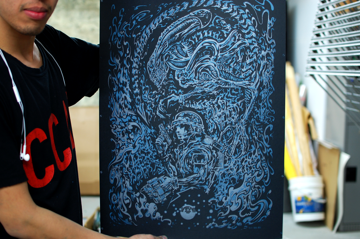 The final untrimmed print.
