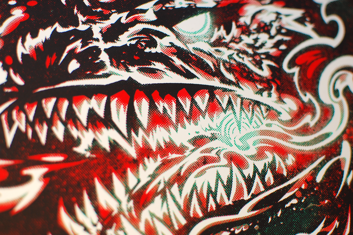 Mouth detail. Really happy with the colour transitions.