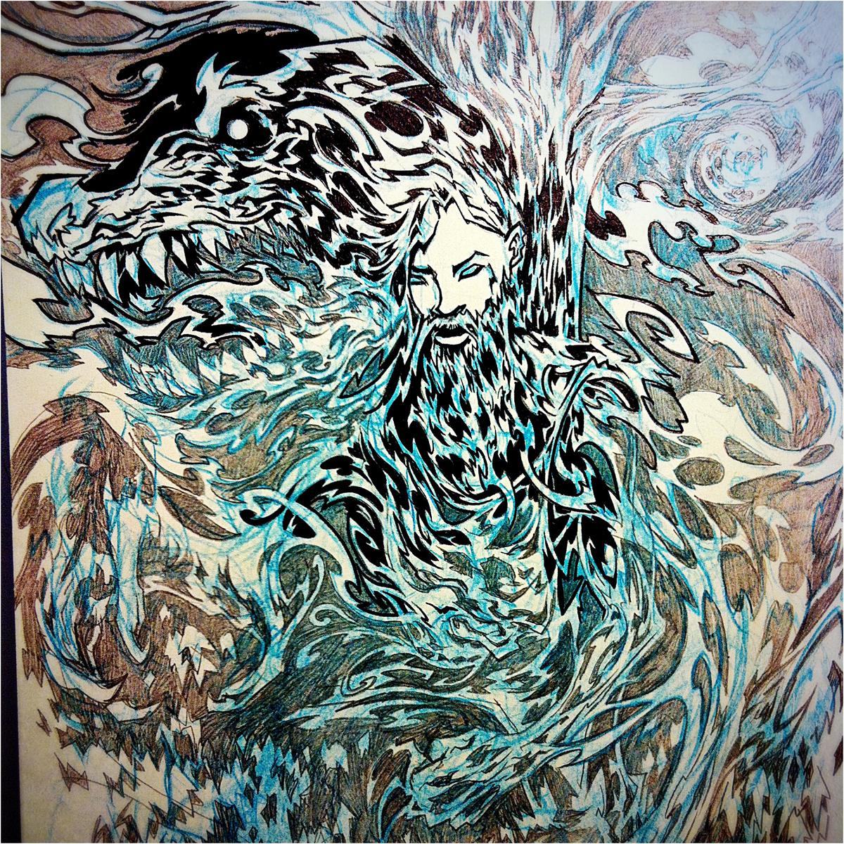 Inking.