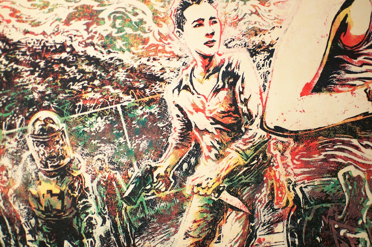 Detail of Glenn Rhee.