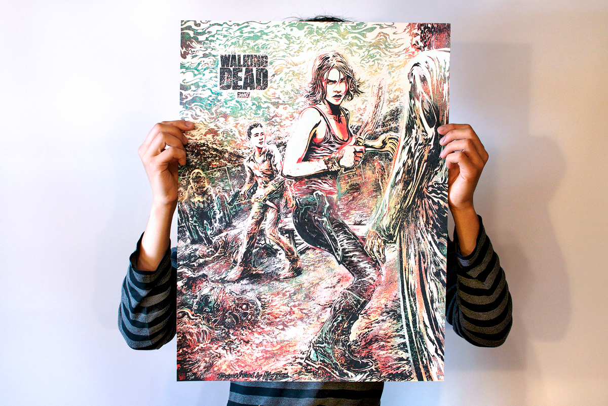 Product shot of The Walking Dead Art Print Officially Licensed by AMC.