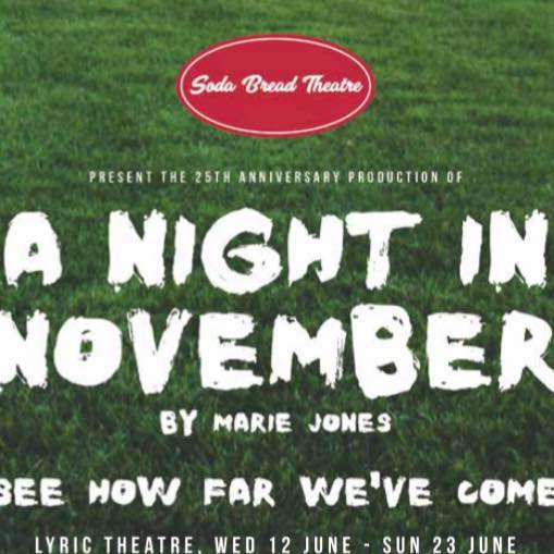 Very exciting news!!! Matthew has just been cast in the 25th anniversary production of 'A Night In November' By Marie Jones. On at the lyric theatre Belfast 12th to 23rd June and then touring until September.