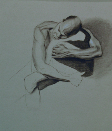 Life Drawing in Progress, Charcoal, Jadyne Reichner