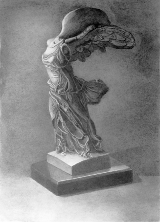Graphite Cast Drawing, Evelyn Wolf