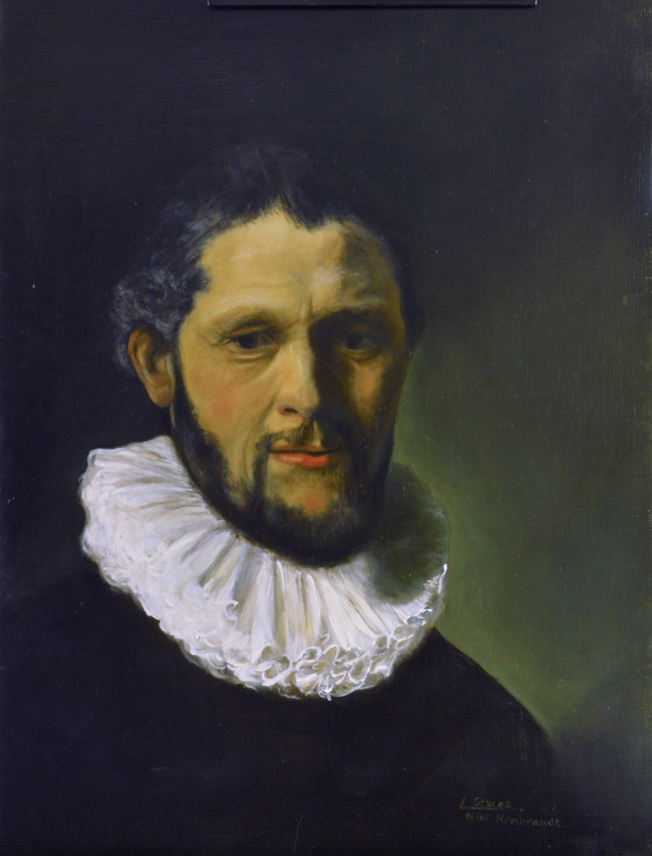 Rembrandt Master Copy, Oil on Linen Panel, Linda Styles-Adams
