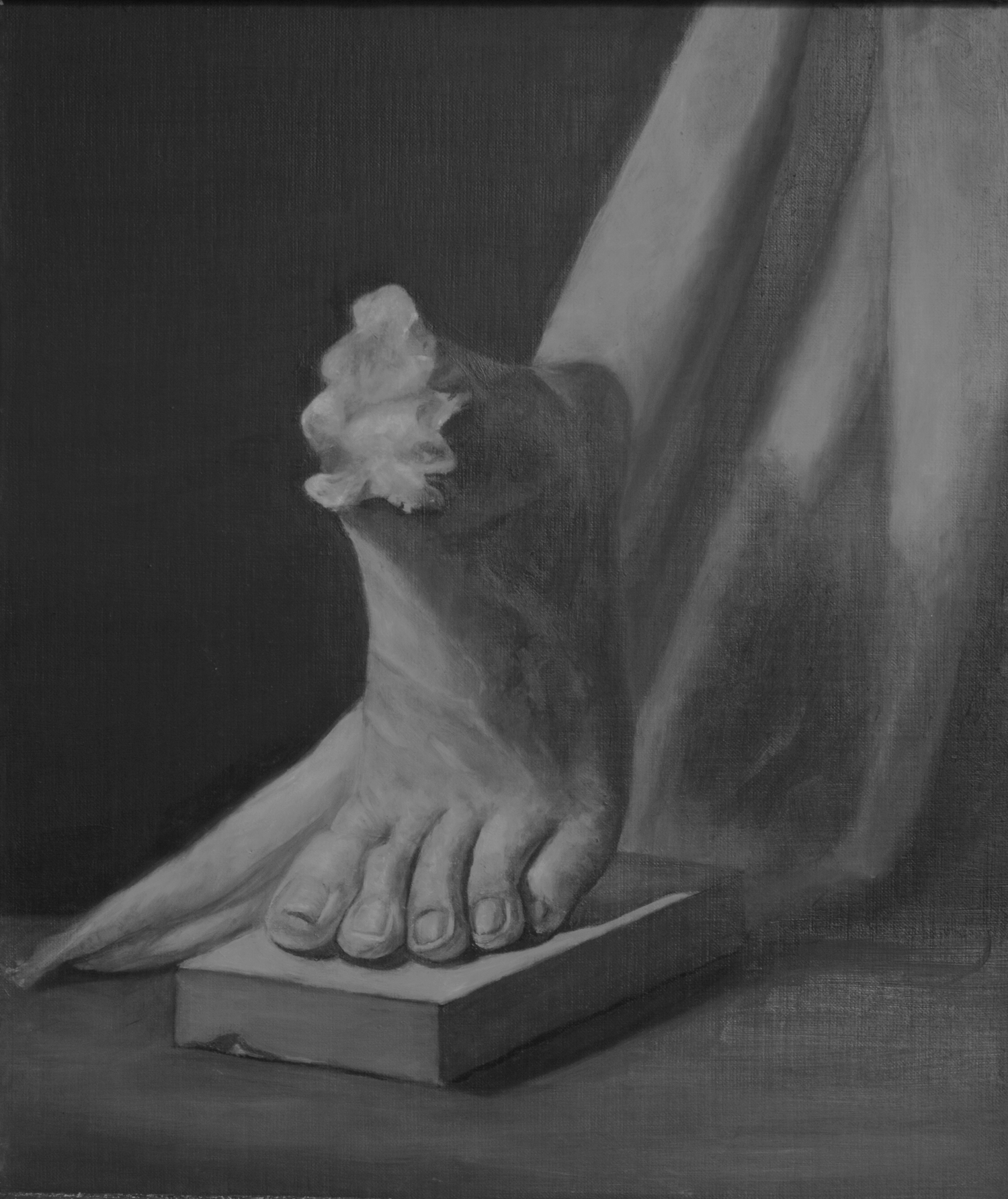 Monochromatic Cast Painting, Oil on Linen, Martha Rudersdorf