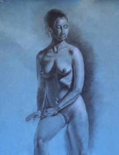 Life Drawing, Charcoal and White Chalk, Martha Rudersdorf