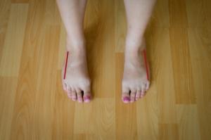 1. Straighten your feet