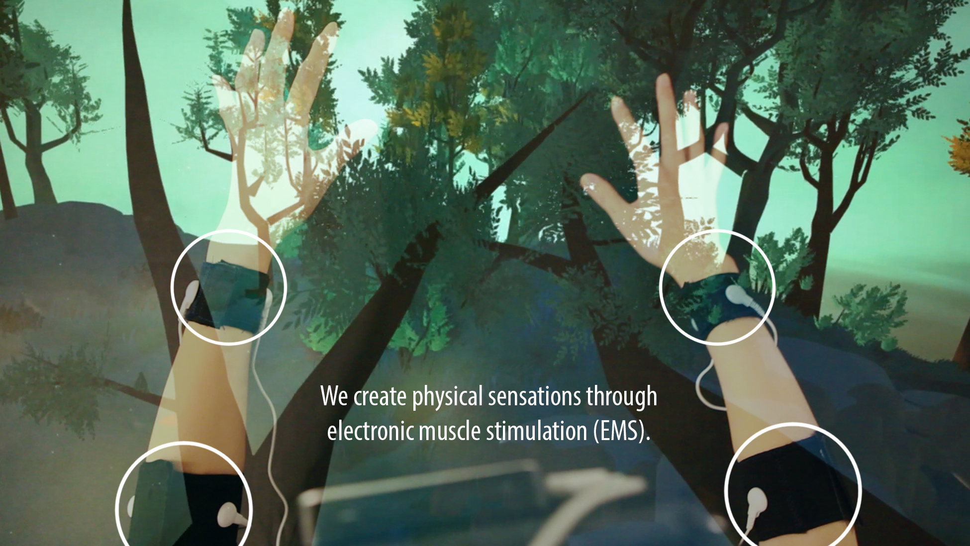 Tactile Feedback through Electrical Muscle Stimulation (EMS)