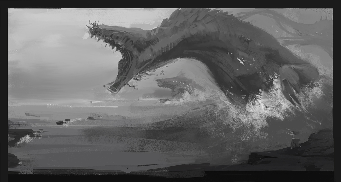Sketch_Sommoner_Dragon_SeaMonster_ConceptArt_Jeff_Mcateer_UnnaturalThings.jpg