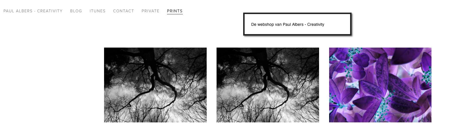 Prints  is de webshop van Paul Albers - Creativity