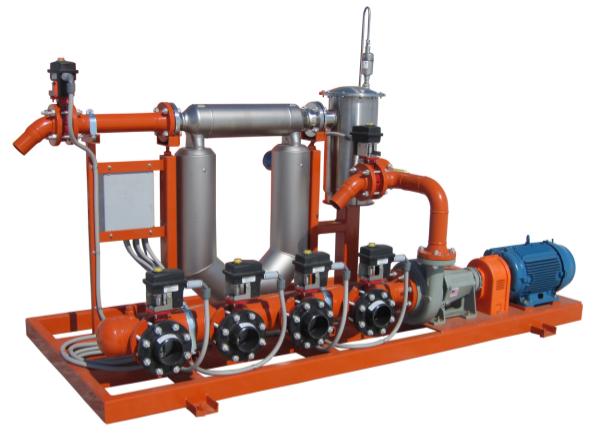 liquid fertilizer pump skid with mass flow meter