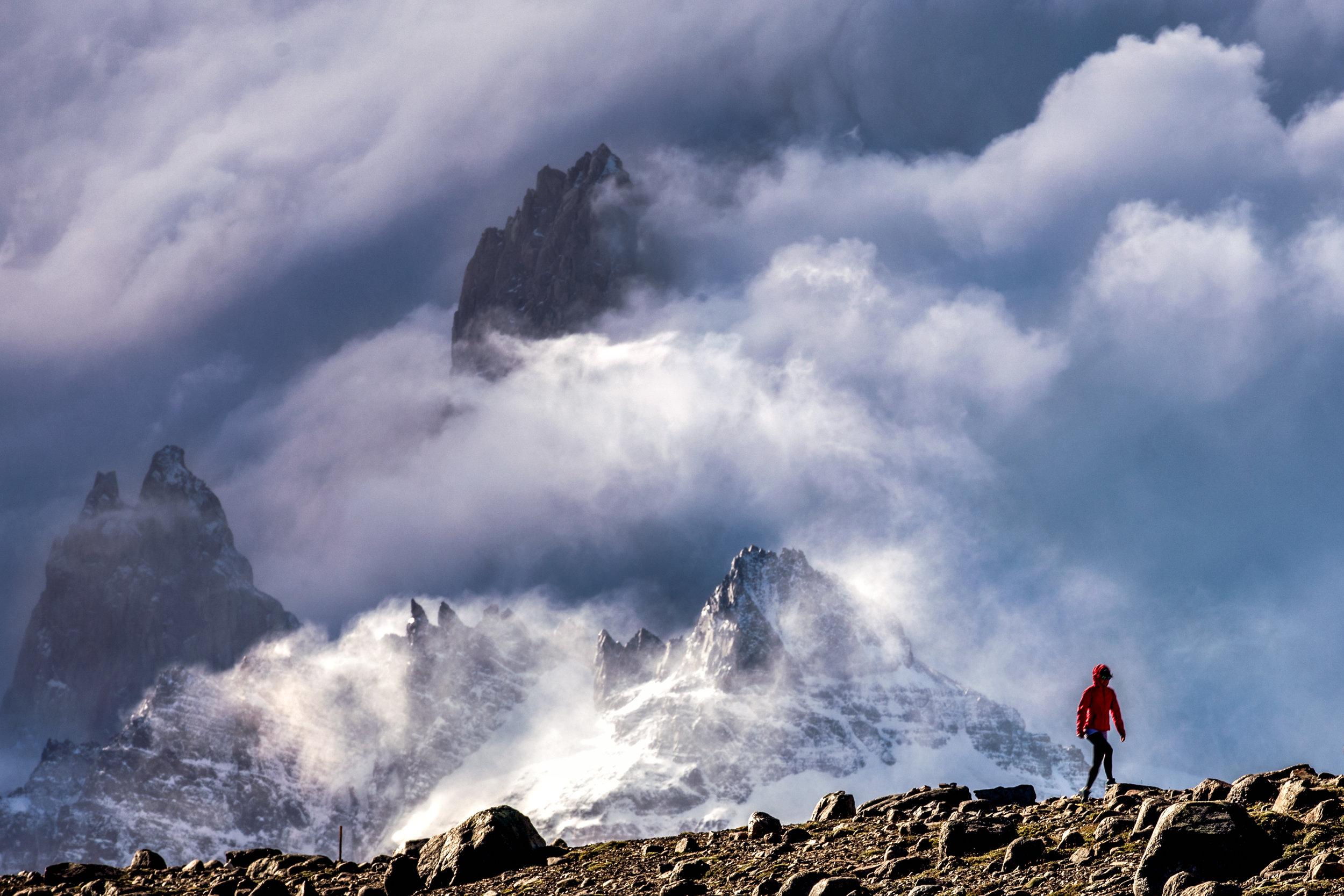 Trail up to  Loma del Pliegue Tumbado